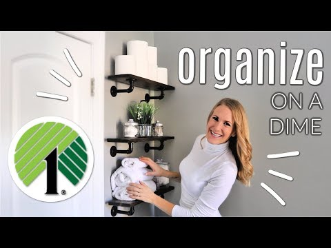 💚 SMALL SPACE ORGANIZING 💚 DIY Floating Shelves & Dollar Tree Ideas