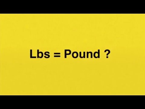 Why is LBS the abbreviation of pound? (The imperial unit)
