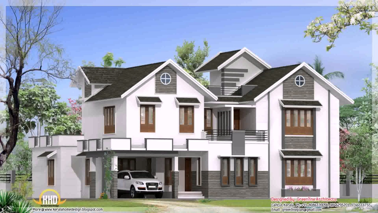 kerala style modern house plans and elevations youtube rh youtube com