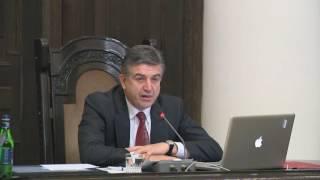 Վարչապետ Կարեն Կարապետյանի խոսքը կառավարության նիստում, դեկտեմբերի 22, 2016