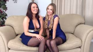 Zoe Alexandra and Natasha Anastasia talking about their day