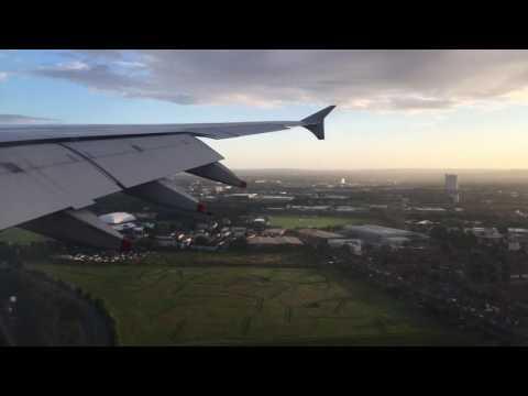 BA12 landing at Heathrow Airport