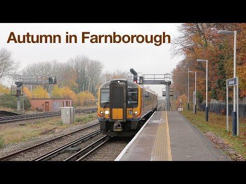South West Trains in Autumn at Farnborough