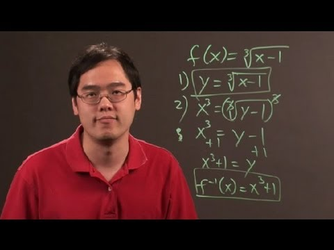 How to Find the Inverse of a Radical Function : Math & Algebra