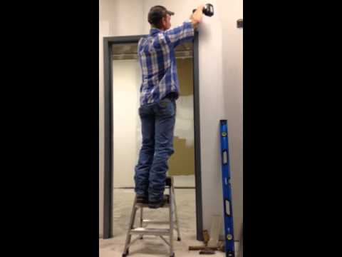 Knock Down Door Frame Install Youtube