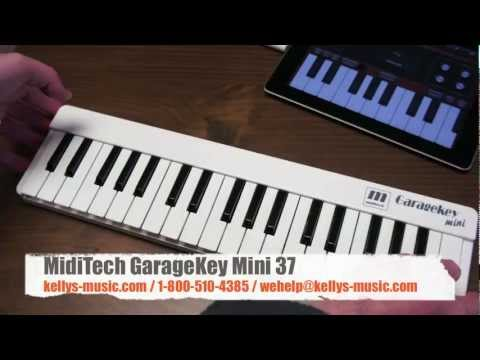 GarageKey Mini 37 USB MIDI Keyboard: iPad, Mac, PC