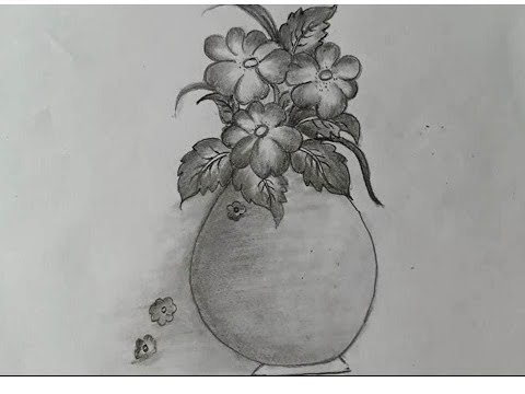 """how-to-sketch-of-flower-pot-by-pencil"""