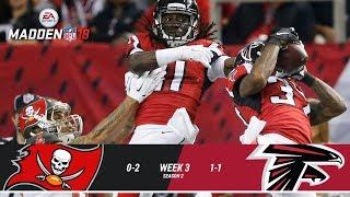 JL S3W03. Tampa Bay Buccaneers @ Atlanta Falcons | Madden NFL 18