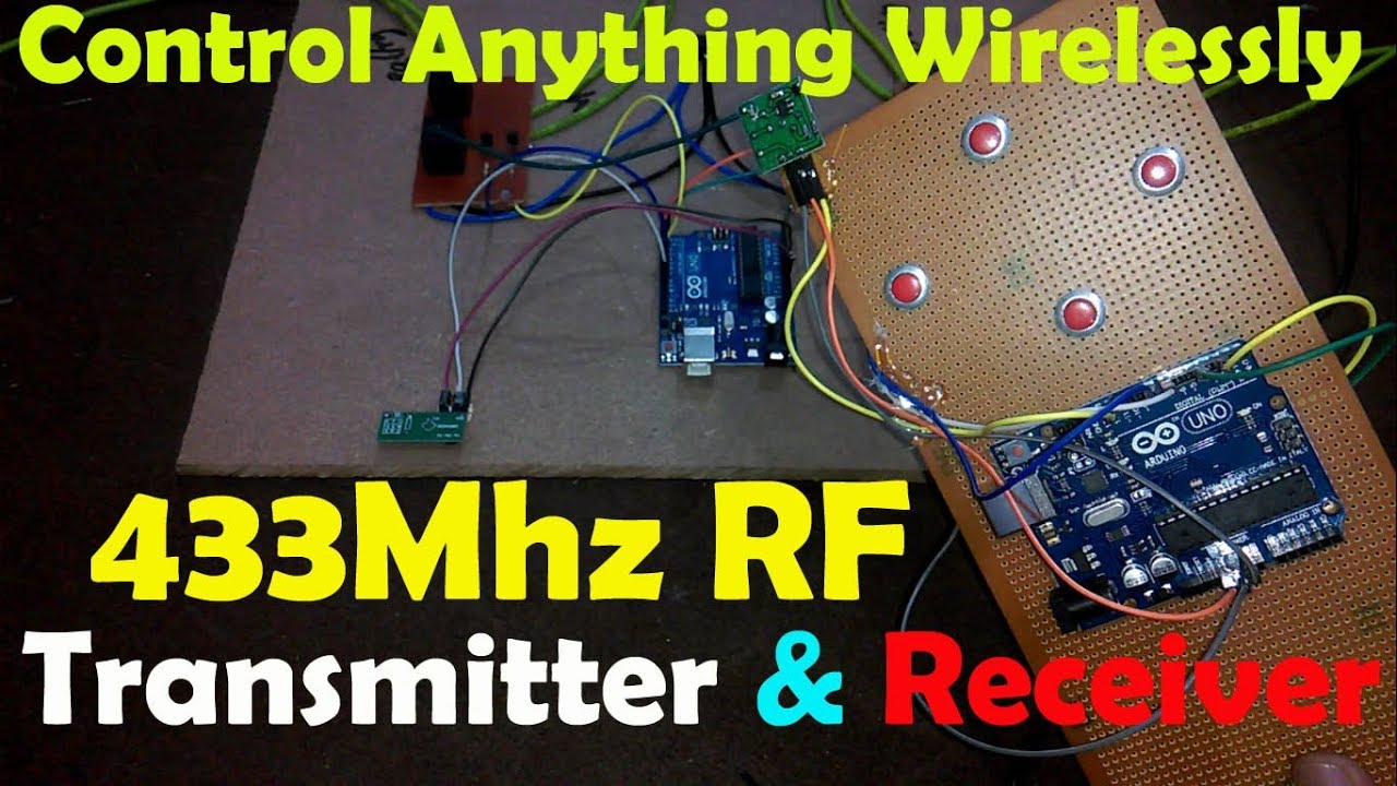 Arduino 433mhz rf transmitter and receiver module, rf wireless data  transfer, rf 433mhz tx and rx