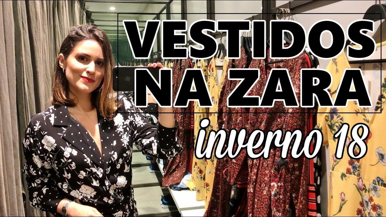 a18a312c91e73 Vestidos na Zara - Tendências Outono  Inverno 2018 ...