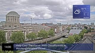 Preview of stream Dublin City Live Webcam - Usee.ie - Axis P1435-LE