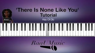 """Basic """"There Is None Like You' Piano Tutorial - Db"""