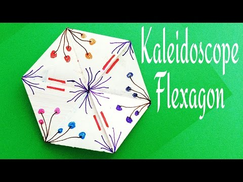 Action Fun Toy Origami - Paper 'Kaleidoscope / Flexagon' Never ending design changing rotations.