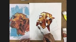 Knife Painting Tutorial - Lab Love (Hard)