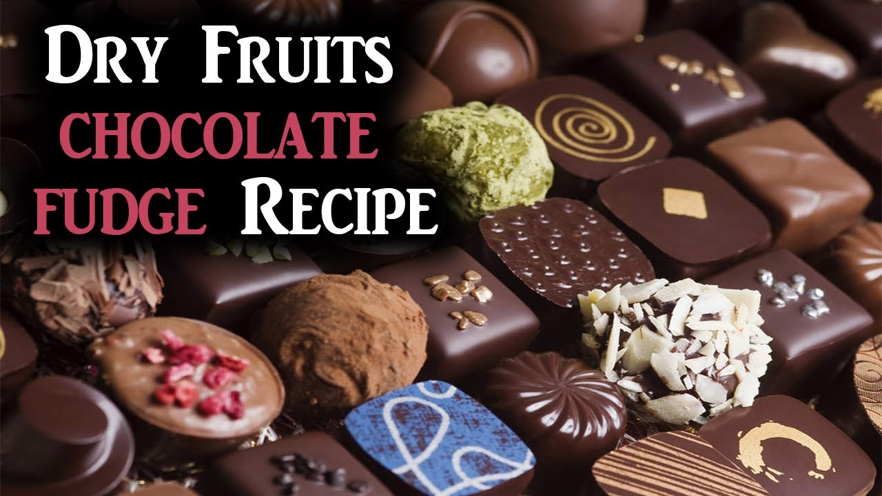 Dry Fruits chocolate fudge Recipe | How To Make chocolate fudge | Dry fruit chocolate fudge.