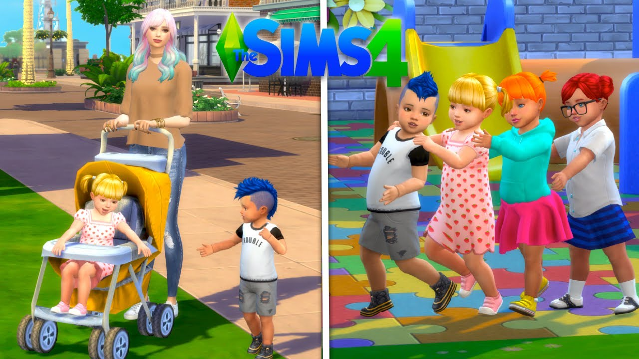 Mom Morning Routine in Sims 4 with Baby Goldie - New Preschool & Acting Job