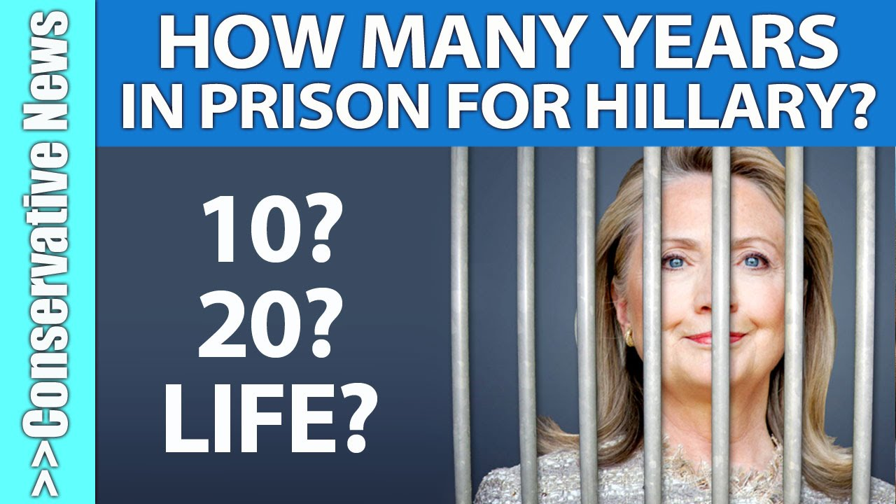 poll how many years should clinton go to prison