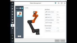 Robot installation & GUI