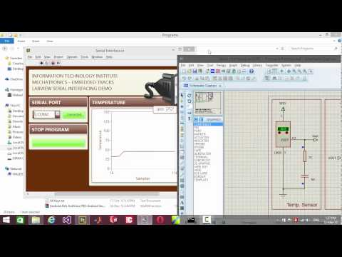 Virtual Prototyping (LabVIEW + Proteus) for LM35 temperature logging