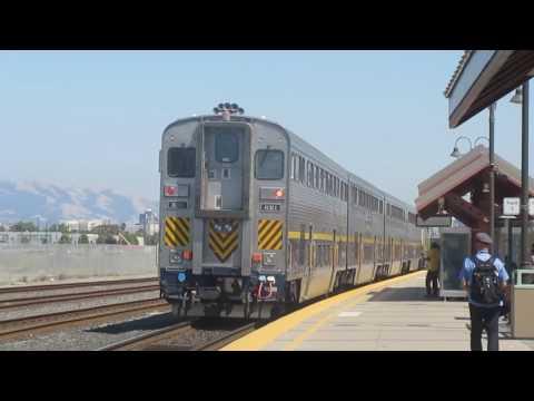 Railfanning santa clara, CA 6/23/17 Ft. Caltrain, ACE, and amtrak!