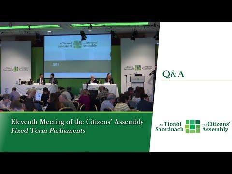 Q&A Citizens Assembly 10:50 (Weekend 11)