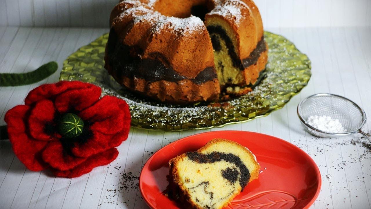 Download Marmorierter Mohngugelhupf - einfaches Rezept - weich und saftig - Poppy seed bundt cake recipe