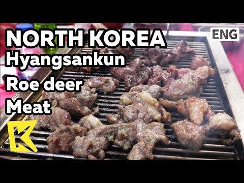 【K】North Korea Travel-Hyangsankun[북한 여행-향산군]유원지에서 먹는 노루고기/Roe deer meat/Myohyangsan/Amusement park