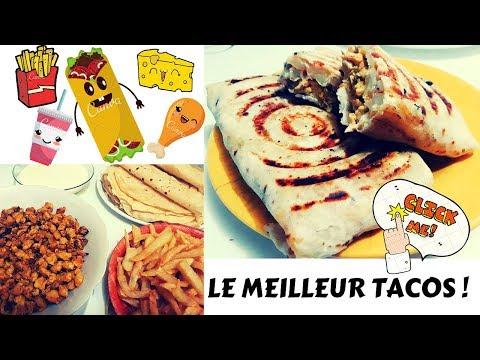 tacos-au-poulet-À-la-sauce-gruyÈre---tacos-maison-Étape-par-Étape---تاكوس-صنع-منزلي