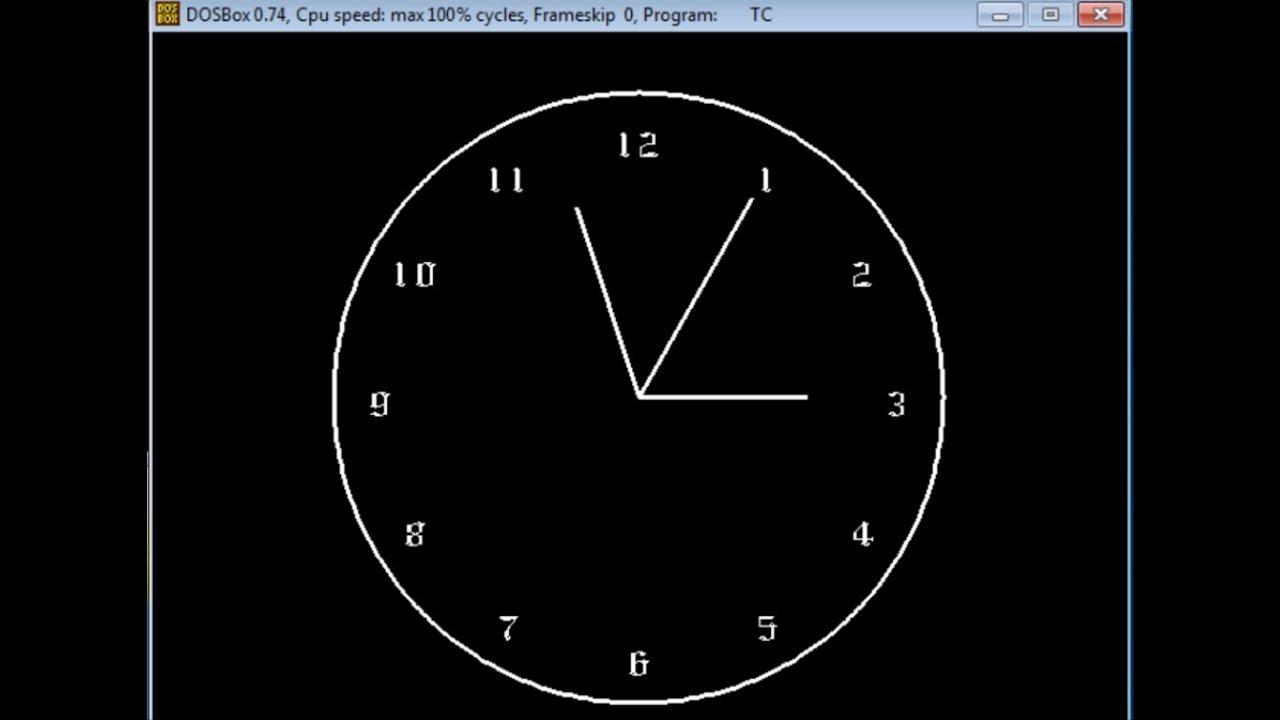 C++ Graphics program analog clock