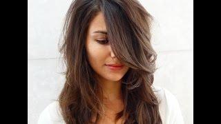 Каскад на средние волосы с челкой видео