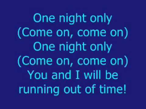 Beyoncé Knowles One Night Only with Lyrics from the movie Dreamgirls