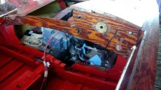 Wooden Jetski Powered Boat