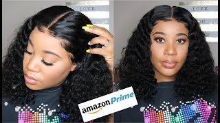 Affordable 13x6 Amazon Curly Wig I Bleaching Knots, Styling, Baby Hairs I Rishang Hair
