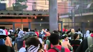 BBC News   Clashes flare at Brazil stadium in Belo Horizonte
