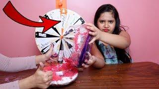 تحدي السلايم بالعجلة الغامضة !!! Mystery Wheel of dump it Slime Challenge