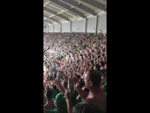 Rep of Ireland vs Italy. Post goal atmosphere!!
