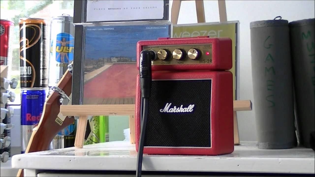 Marshall MS2 Micro Amp Review - Demoing the Marshall MS-2 Mini Amp