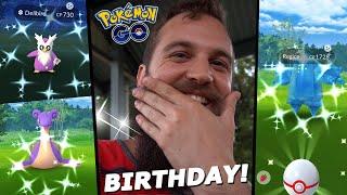 AMAZING Birthday Weekend Shiny Luck! (Shiny Regice Raids + Shiny Hunt) - Pokemon Go
