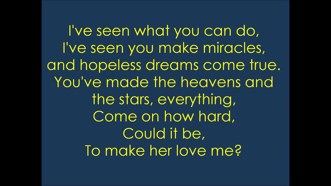 Rascal Flatts: To Make Her Love Me ~Lyrics - YouTube