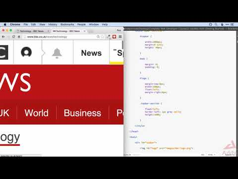 CSS 3 Lesson 16    CSS Project BBC News Website 1