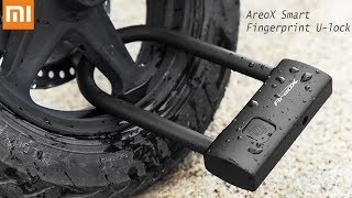 Xiaomi AreoX Fingerprint U Shape Lock U8 Anti-theft Bicycle Motorcycle Bike S5H9