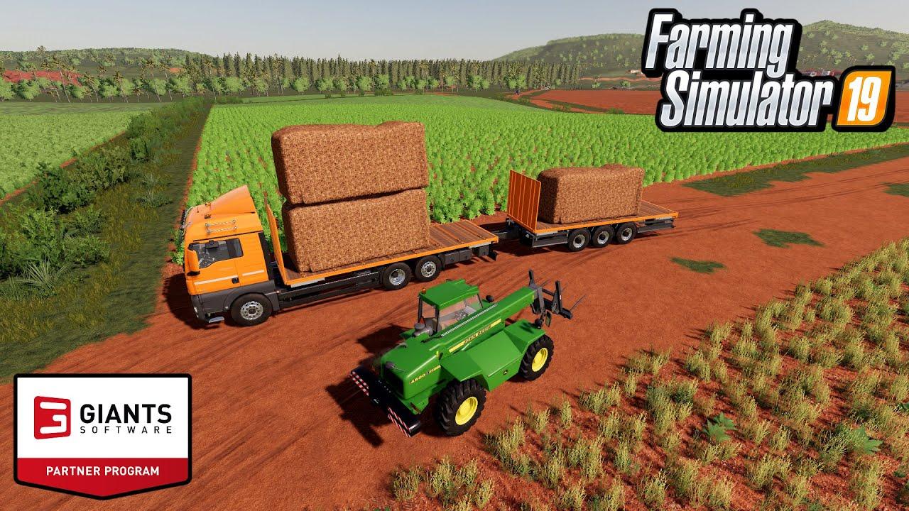 FS19 TRANSPORT BIG TOBACCO BALES MINING CONSTRUCTION ECONOMY MAP FARMING SIMULATOR MODS