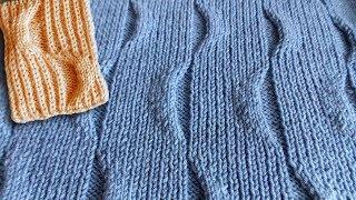 видео схема вязания спицами свитера с резинкой для женщин