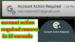How to remove account action required in MI 2018-19