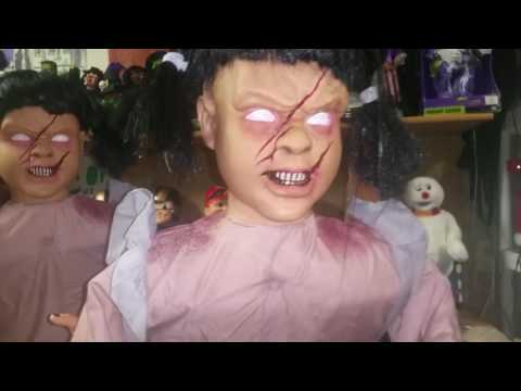 """Spirit Halloween Reviews- Tekky Toys Animated """"Lunging Lilly"""" & """"Pumpkin Carver Girl"""""""