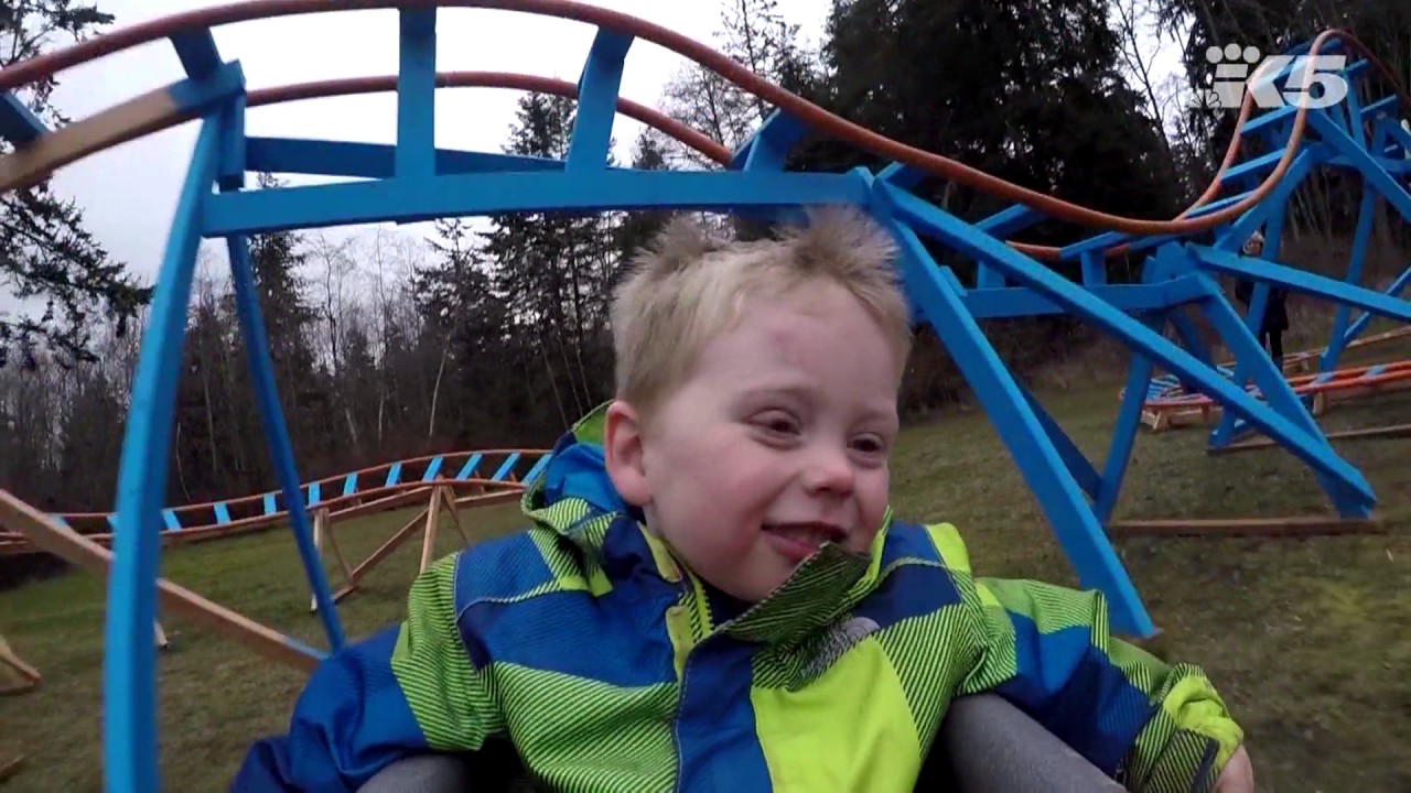 Oak Harbor dad builds backyard roller coaster for son