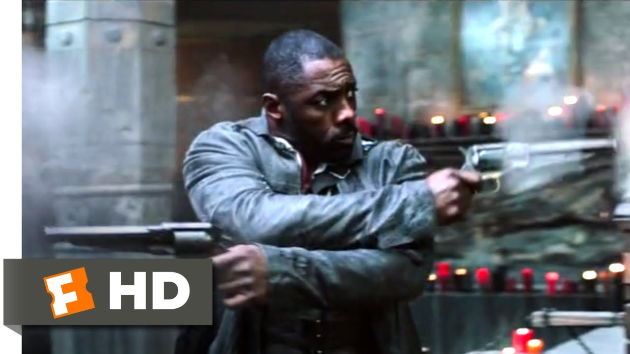 Idris Elba Films Dark Tower Scenes With Tom Taylor As Jake The Dark Tower 2017 The Dixie Pig Shootout Scene 9 10 Movieclips
