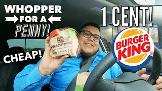 How to get a 1¢ Whopper from Burger King! #Foodie