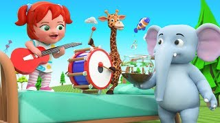 Learn Household Objects Names for Kids with Little Babies fun Play with Cartoon Elephant and Giraffe