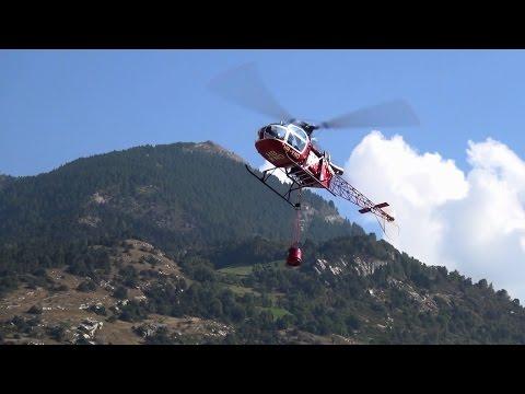 Super Scale RC Turbine Model Helicopter Air-Zermatt LAMA III Let's Water fall